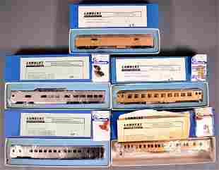 Five Lambert Associates HO scale brass passenger cars