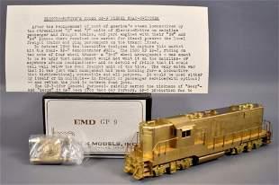 Hallmark HO scale brass EMD GP-9 diesel locomotive in