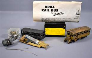 Two built HO scale brass brill rail buses Kemtron ?