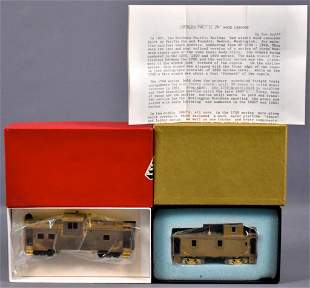 Two HO scale brass cabooses in original boxes NWSL LMB