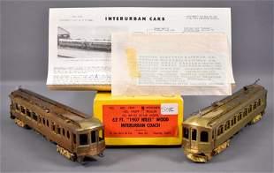 E. Suydam HO scale brass Niles interurban coach and