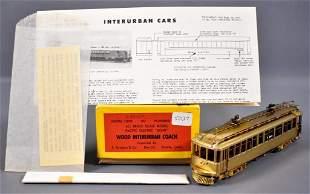 E. Suydam HO scale brass 800 wood interurban coach in