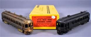 Two E. Suydam HO scale brass wood interurban powered