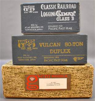 HO and O scale brass train empty original boxes
