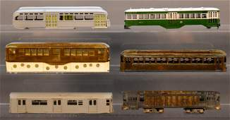 Six mixed HO scale traction bodies or shells with one