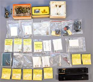 Huge group of vintage HO scale traction parts, trolley