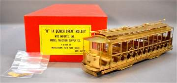 MTS Imports O scale brass traction 14 Bench Open