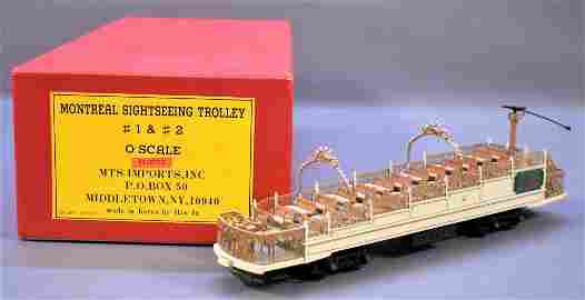 Factory painted MTS Imports O scale brass Montreal