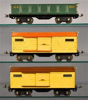 Three Lionel prewar standard gauge freight cars