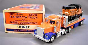 Lionel modern era O TMT-18416 flatbed toy truck with