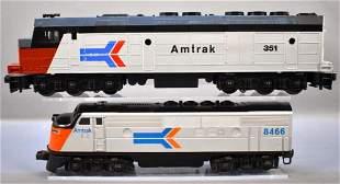 Williams and Lionel modern era O gauge Amtrak diesel