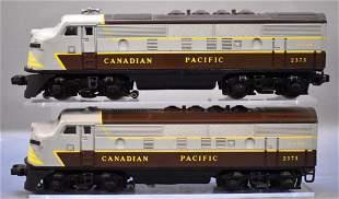 Counterfeit Lionel postwar O 2373 Canadian Pacific F-3