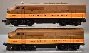 Counterfeit Lionel postwar O 2363 Illinois Central F-3
