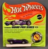 Redline Hot Wheels HK Purple Ferrari on Blister Card
