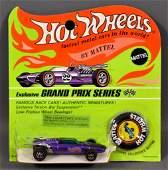 Redline Hot Wheels HK Purple Indy Eagle on Blister Card