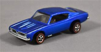 Redline Hot Wheels US Blue Custom Barracuda Loose