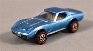 Redline Hot Wheels US Light Blue Custom Corvette Loose