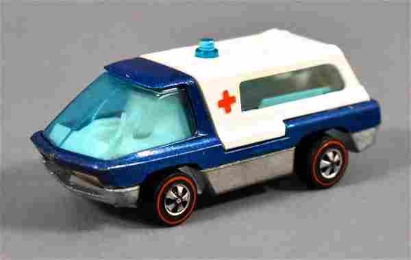Redline Hot Wheels Blue The Heavyweights Ambulance