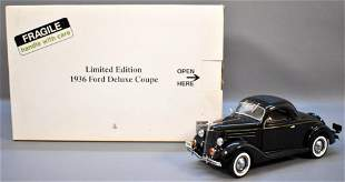 Danbury Mint 1936 Ford Coupe Black Limited #1898 of