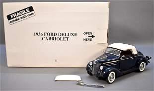 Danbury Mint 1936 Ford Cabriolet Dark Green Original