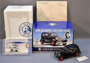 Franklin Mint John Dillinger 1933 Ford Sedan Complete