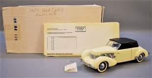 Franklin Mint 1937 Cord 812 Phaeton Yellow Original Box