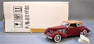 Franklin Mint 1937 Cord 812 Phaeton Maroon Original Box