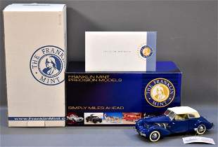 Franklin Mint 1937 Cord 812 Phaeton Blue Limited