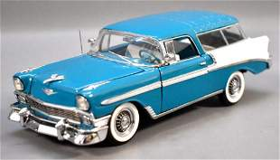 Franklin Mint 1956 Chevrolet Nomad Turquoise and White