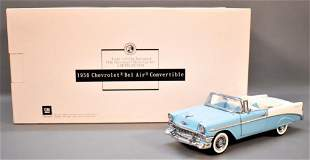 Franklin Mint 1956 Chevrolet Convertible Light Blue and