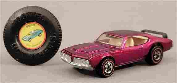 Redline Hot Wheels Magenta Olds 442 Loose