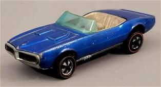 Redline Hot Wheels HK Blue Custom Firebird dark