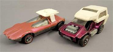 Group of 2 Redline Hot Wheels Swingin Wing and Grass