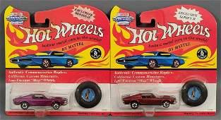 Group of 2 Hot Wheels Vintage Series II Mustang Blister