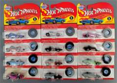Group of 12 Hot Wheels vintage Series and 25th ann Silo