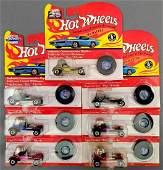 Group of 7 Hot Wheels vintage Series and 25th ann Red