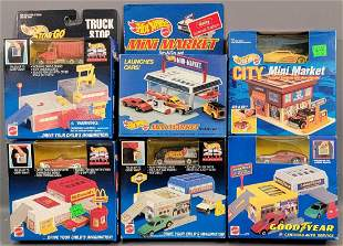 Group of 6 Hot Wheels Sto & Go sets