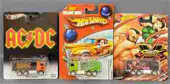 Group of 3 Hot Wheels Hiway Haulers on Blister Packs