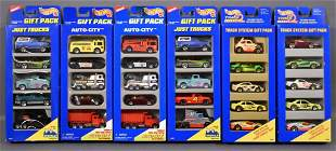 Six Hot Wheels gift packs with variation sets
