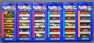 Six different Hot Wheels 5-car gift packs