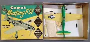 Vintage Comet U-control gas powered Mustang F-51