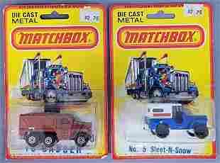 Group of 2 Matchbox cars on Blister Packs