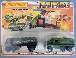 """Matchbox Lesney 75 """"Two"""" Packs TP-14 Military Tanker"""