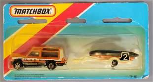 Matchbox TP-110 Matra Rancho and Boat Trailer on