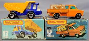 Group of two Matchbox Vehicles in original boxes