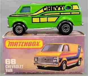 Matchbox 75 green #68 Chevrolet Van in original box