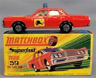 Matchbox Superfast #59 Fire Chief Car in original box