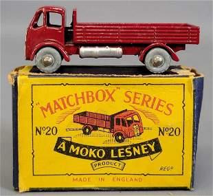 Lesney Matchbox Moko Maroon No 20 Stake Truck in