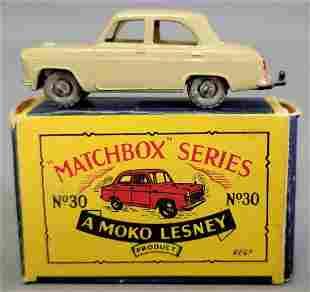 Lesney Matchbox Moko Orange No 30 Ford Prefect in