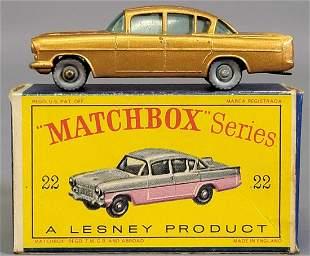 Lesney Matchbox Copper #22 1958 Vauxhall Cresta in